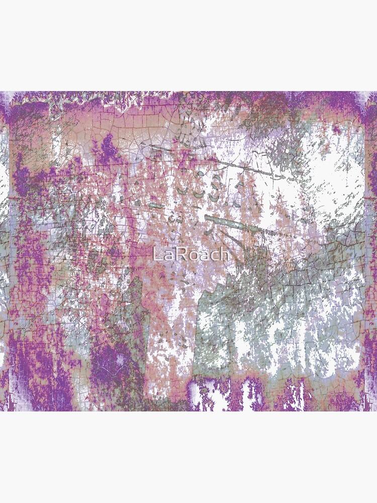 Mauve Grunge Crackle by LaRoach