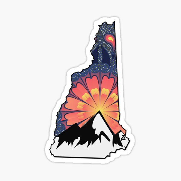 New Hampshire Orange Mt Sticker