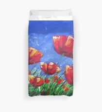 Summer Poppies Duvet Cover