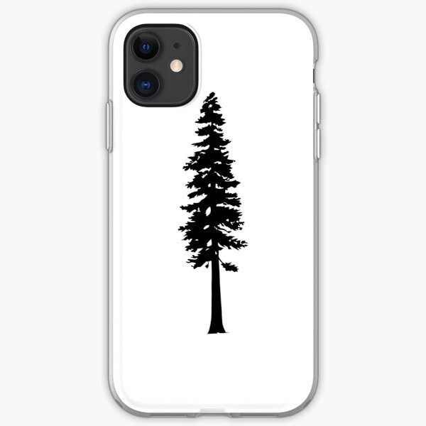 Redwood Tree Silhouette iPhone Soft Case