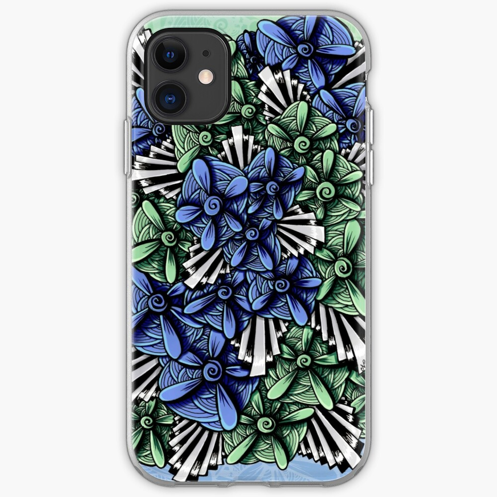 Zentangle Petal-Floodlights iPhone Case & Cover