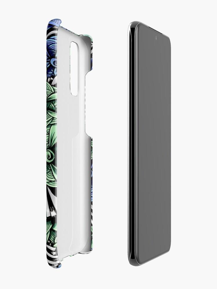 Alternate view of Zentangle Petal-Floodlights Case & Skin for Samsung Galaxy