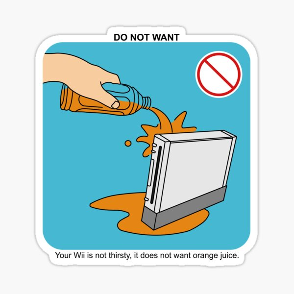 No Juice for Wii Sticker