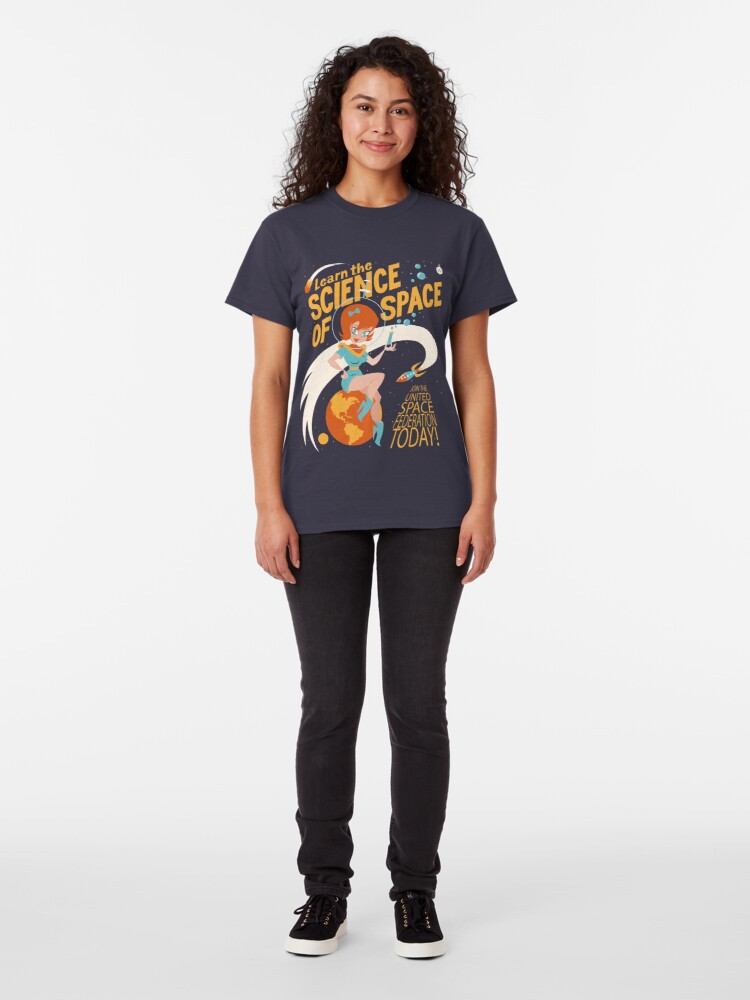 Alternate view of United Space Federation Classic T-Shirt