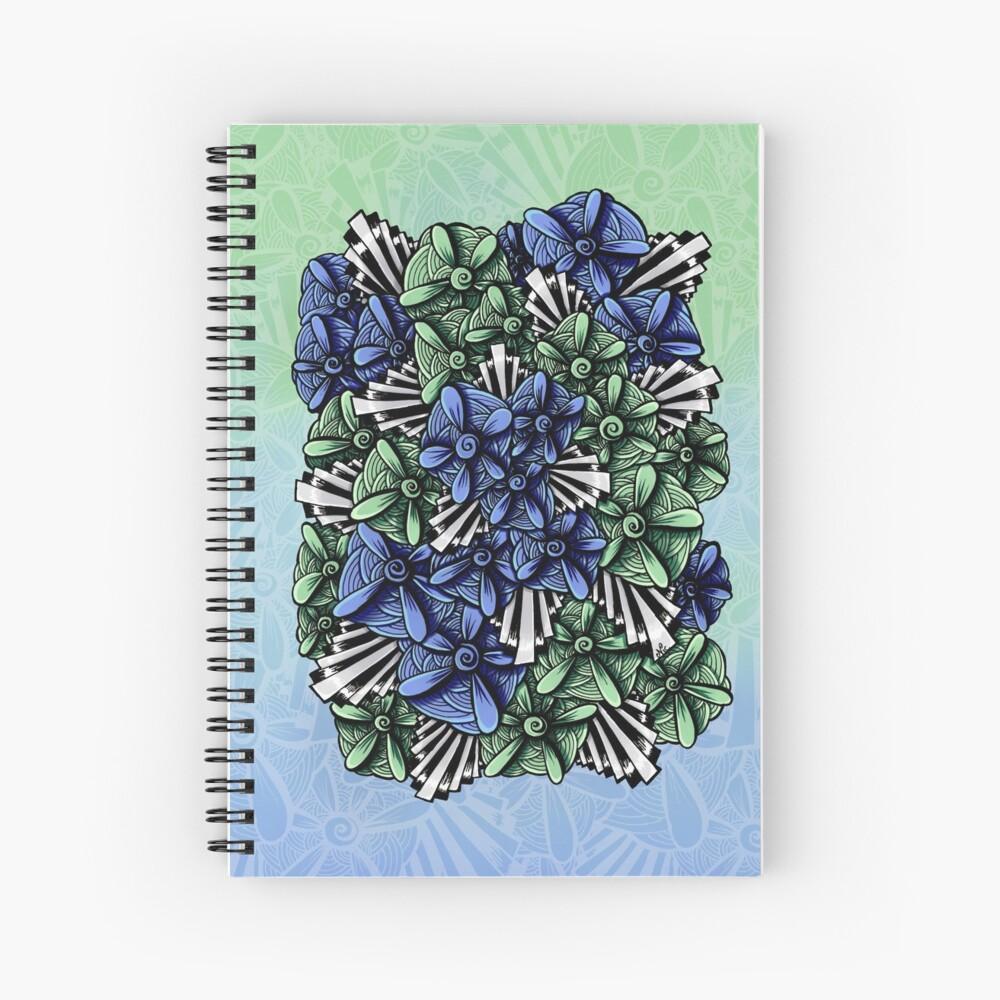 Zentangle Petal-Floodlights Spiral Notebook