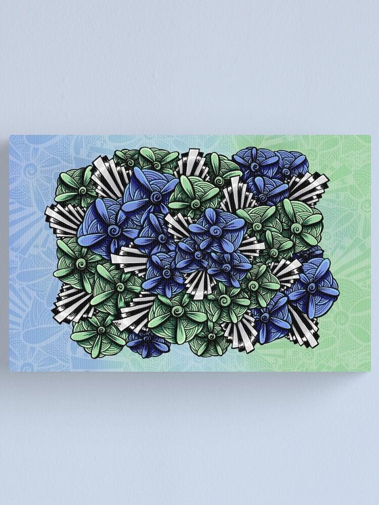 Alternate view of Zentangle Petal-Floodlights Canvas Print