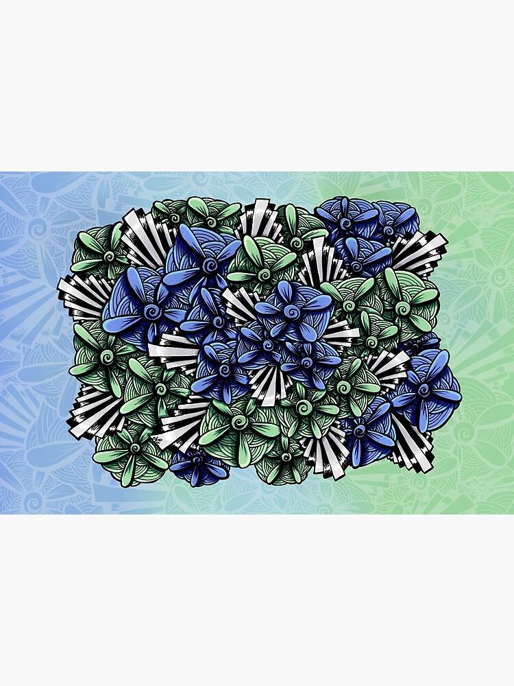 Zentangle Petal-Floodlights by digitalartbynic