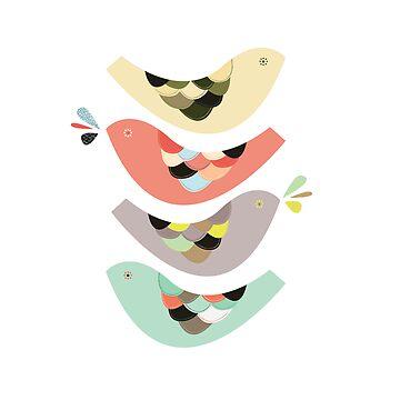 Four birds by catherineinsch