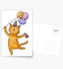 Congratulations cat!  Postcards