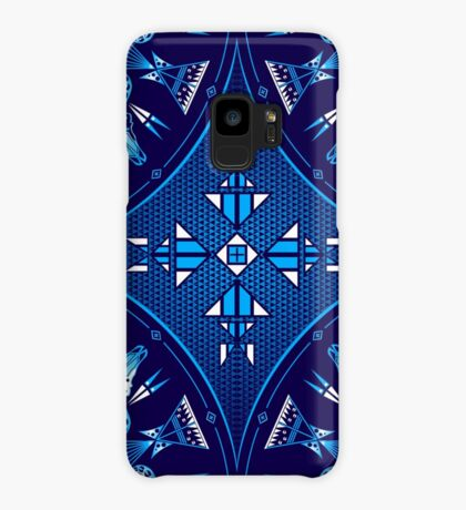 Buffalo Gathering Blue Case/Skin for Samsung Galaxy