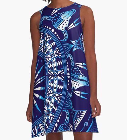 Buffalo Gathering Blue A-Line Dress