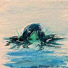 peek-a-boo merm (tiny) by BlackCatMasque
