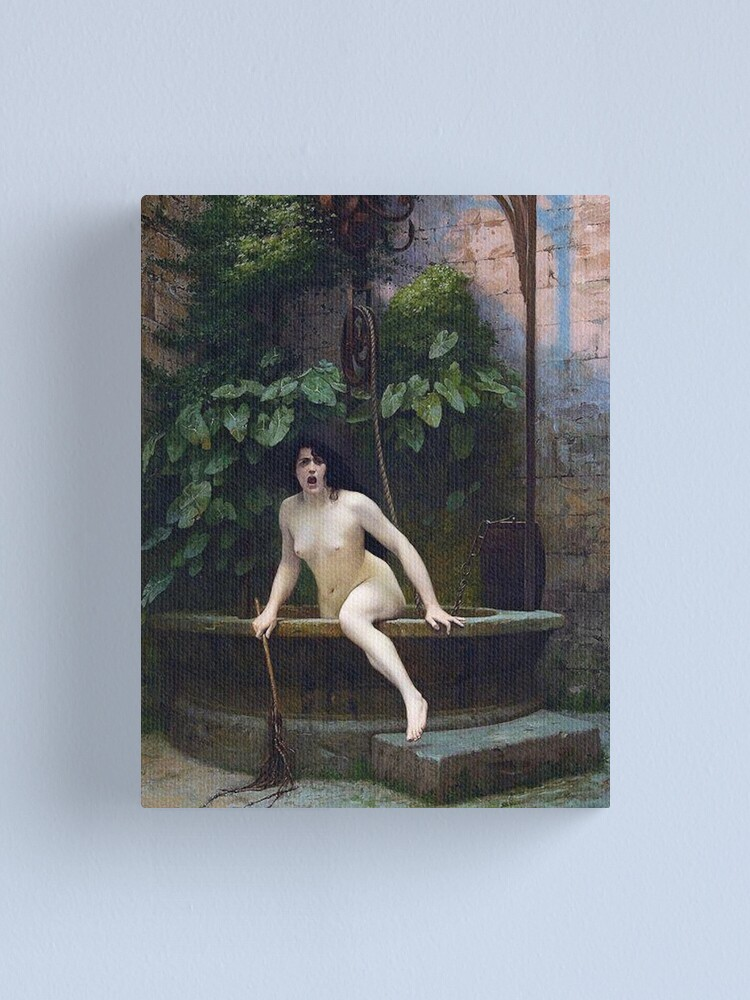 Alternate view of TRUTH COMING OUT OF HER WELL TO SHAME MANKIND - JEAN-LEON GEROME Canvas Print