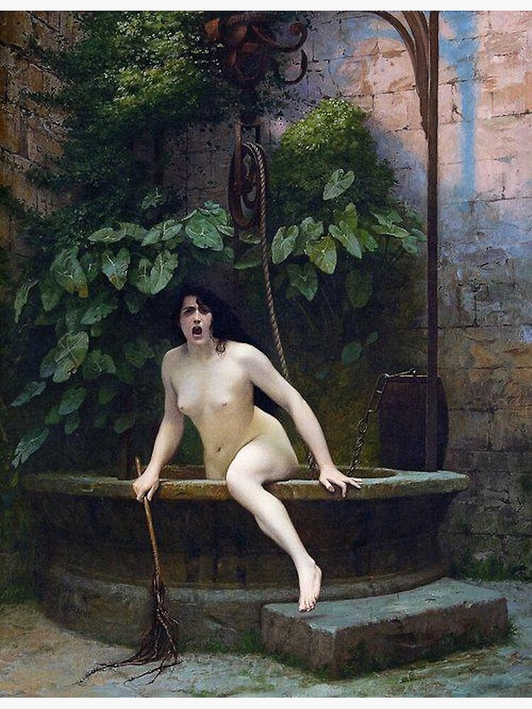 TRUTH COMING OUT OF HER WELL TO SHAME MANKIND - JEAN-LEON GEROME by iconicpaintings
