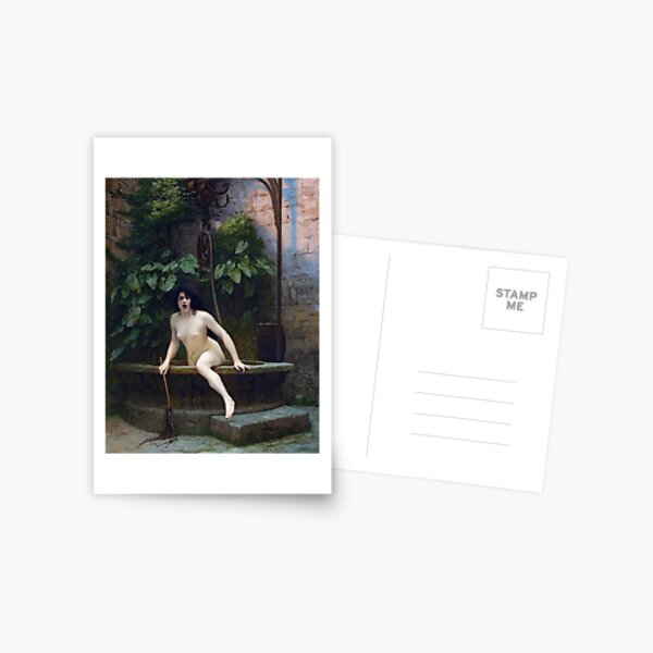 TRUTH COMING OUT OF HER WELL TO SHAME MANKIND - JEAN-LEON GEROME Postcard