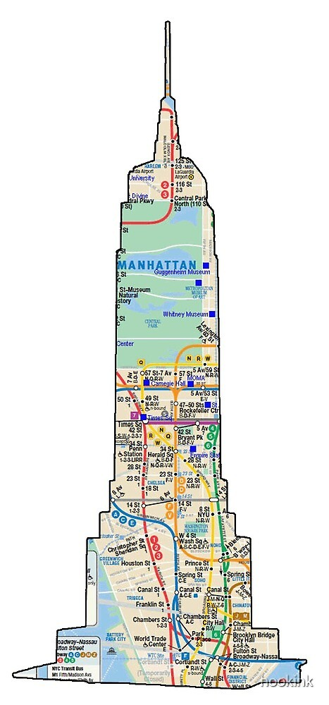 subway map new york  Empire state building NYC Subway Map of a Building in NYC which goes to   by hookink