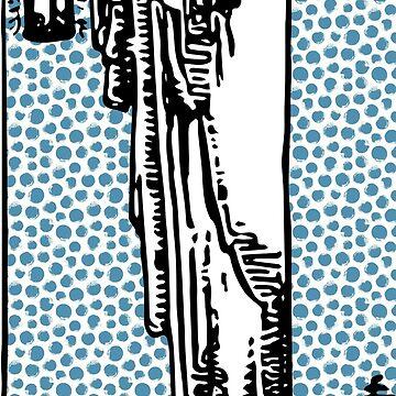 Modern Tarot Design - 9 The Hermit by annaleebeer