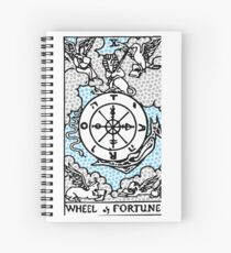 Modern Tarot Design - 10 Wheel of Fortune Spiral Notebook