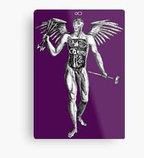 Flayed Man Spirit of the Occult Metal Print