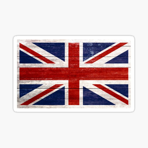 Rustic Flags Sticker Decal welsh English French German Union Jack flag Printed