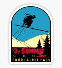 Summit Inn at Snoqualmie Pass Vintage Travel Decal Sticker
