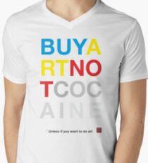 Buy Art Not Cocaine Camiseta para hombre de cuello en v