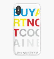 Buy Art Not Cocaine Vinilo y funda para iPhone