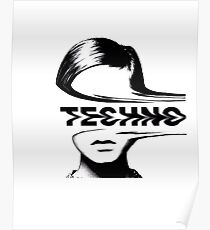 Techno Music Poster