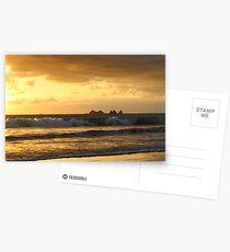 Golden Break at Playa Pinuelas Postcards
