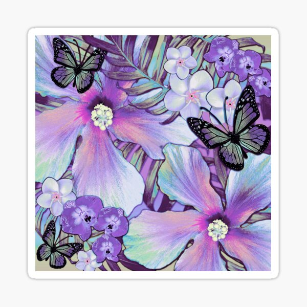 Orchid Hibiscus Tropical Sticker