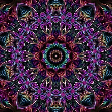 Fractal Kaleidoscope Pattern by fantasytripp