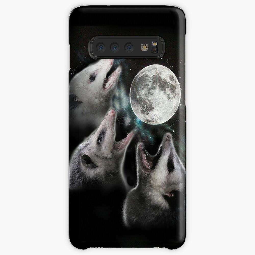 3 Opossum Mond Hüllen & Klebefolien für Samsung Galaxy