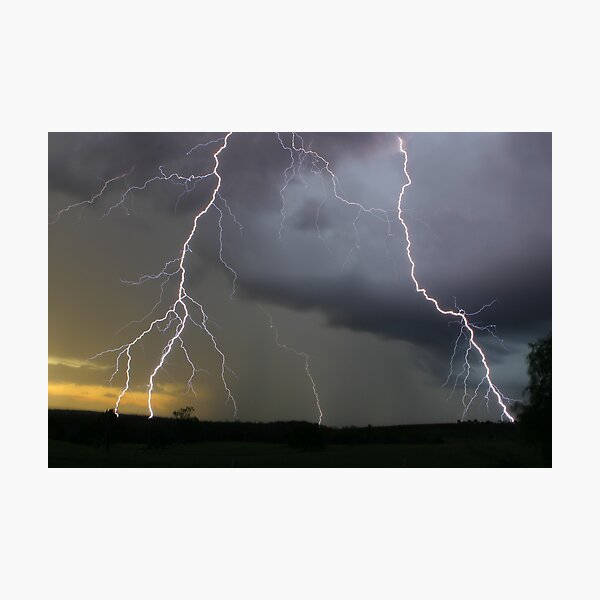 Close encounters of the Lightning kind Photographic Print
