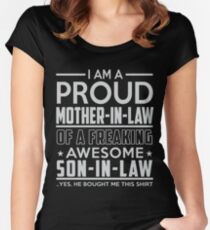 Mother-In-Law and Son-in-Law - Mothers Day Mom Gifts Women's Fitted Scoop T-Shirt