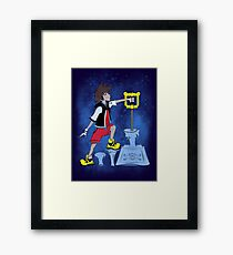 The Keyblade In The Stone Framed Print