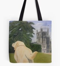 Downton Abbey's beloved Isis and the Abbey.  Tote Bag