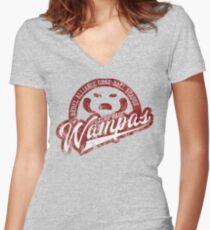 Echo Base Wampas Women's Fitted V-Neck T-Shirt