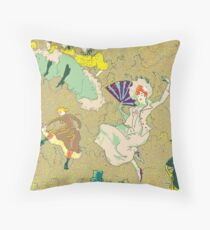 Cancan at the Moulin  Throw Pillow