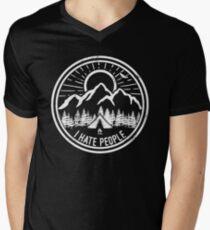 Camping I Hate People Camping Lovers Mountain Climbing Hiking Gift Shirt Men's V-Neck T-Shirt