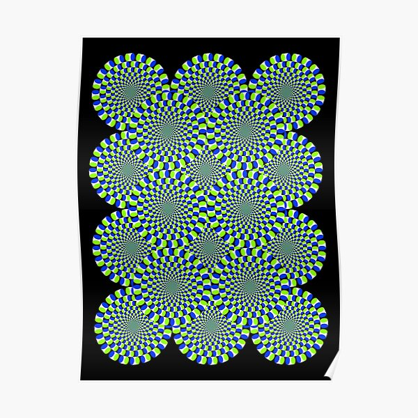 Rotating Snakes Illusion Poster