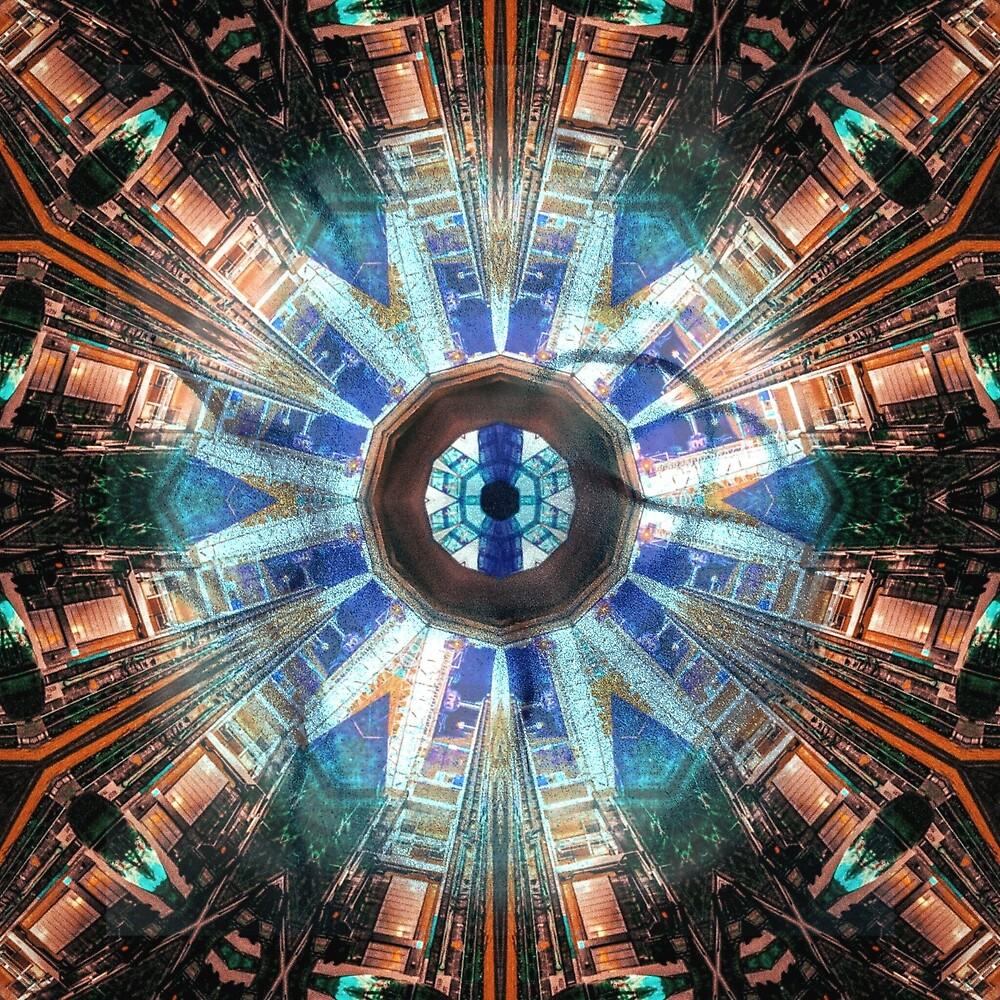 AI's eye geometric digital art pattern  by Linandara