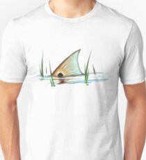 Tailing Redfish in Grass | Redfish Tail Slim Fit T-Shirt