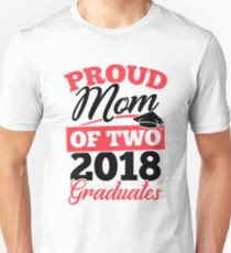 Graduation Gift Shirt for Mom with Twins Proud Mom of Two Unisex T-Shirt