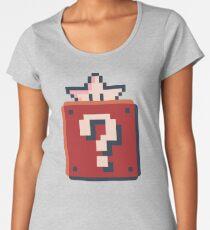 Mario Style Cube and Star Women's Premium T-Shirt