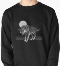 Wolf in the Wild Moon  Pullover