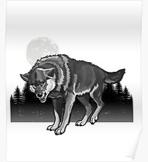 Wolf in the Wild Moon  Poster