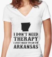 Arkansas I Just Need To Go To Arkansas Women's Fitted V-Neck T-Shirt