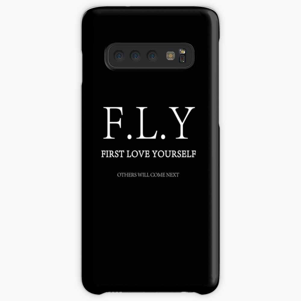 F L Y First Love Yourself Case Skin For Samsung Galaxy By Quintessenz Redbubble
