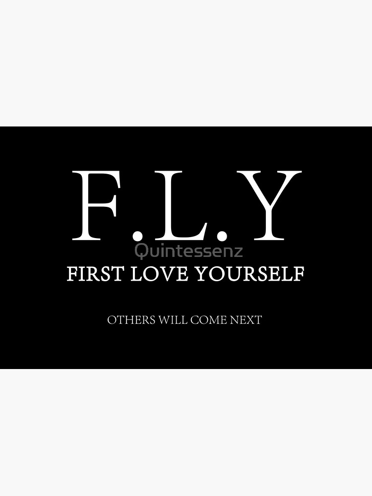 F L Y First Love Yourself Laptop Skin By Quintessenz Redbubble