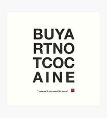 Compra arte no cocaina Lámina artística